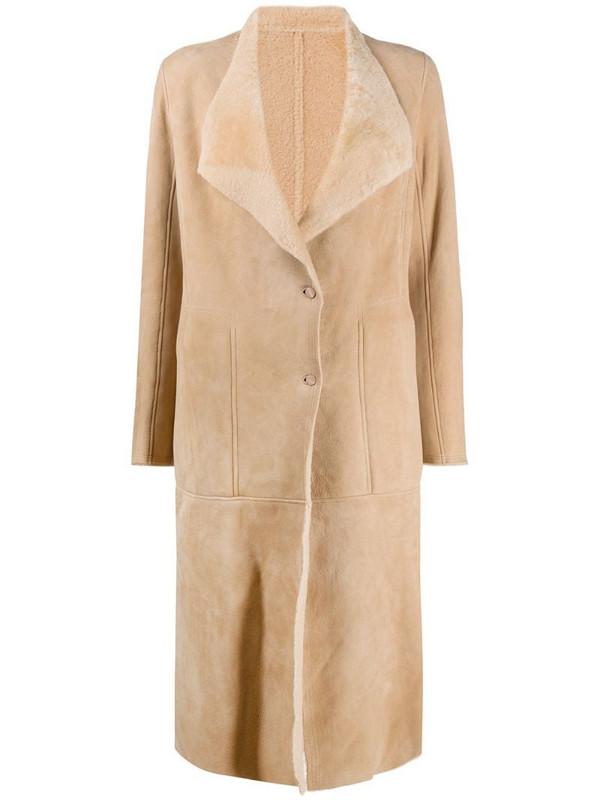 Gentry Portofino single-breasted coat in neutrals