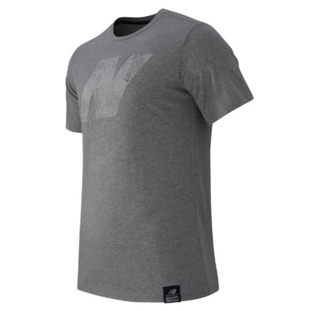 New Balance 61554 Men's N Tee - Grey (MT61554AG)