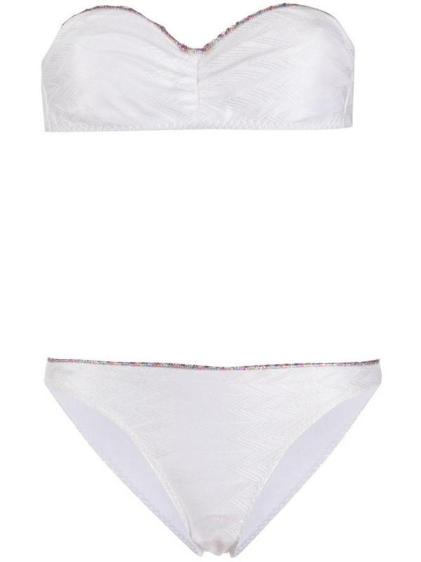 Missoni Mare contrast trim bikini in white