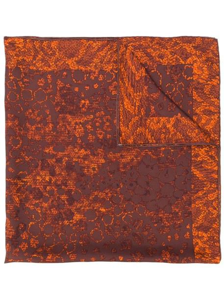 Yves Saint Laurent Pre-Owned printed scarf in brown