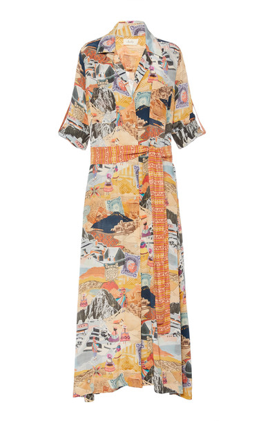 Chufy Moray Chiffon Shirt Dress Size: S in print