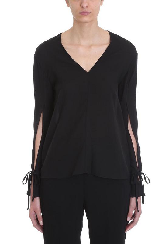 3.1 Phillip Lim V-neck Blouse in black