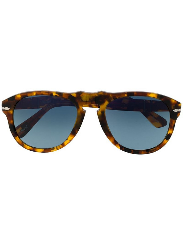 Persol chunky frame sunglasses in brown