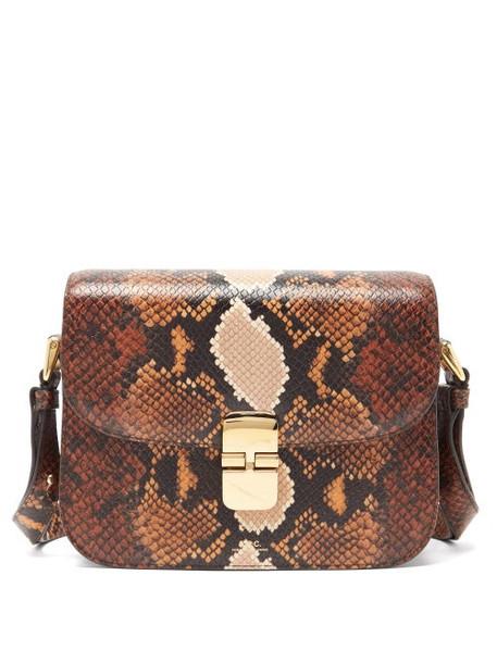 A.P.C. A.P.C. - Grace Small Python-effect Leather Cross-body Bag - Womens - Python