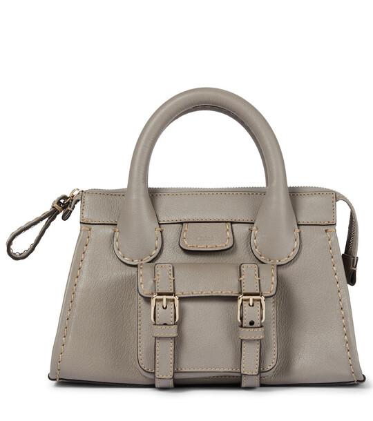 Chloé Edith Mini leather tote in grey