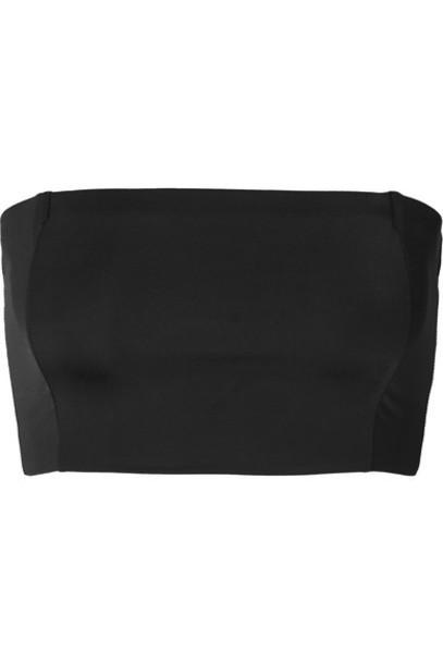 Myra - Daria Bandeau Bikini Top - Black