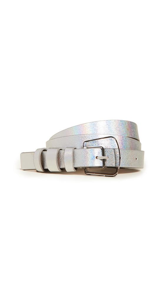 B-Low The Belt Kim Iridescent Belt in silver