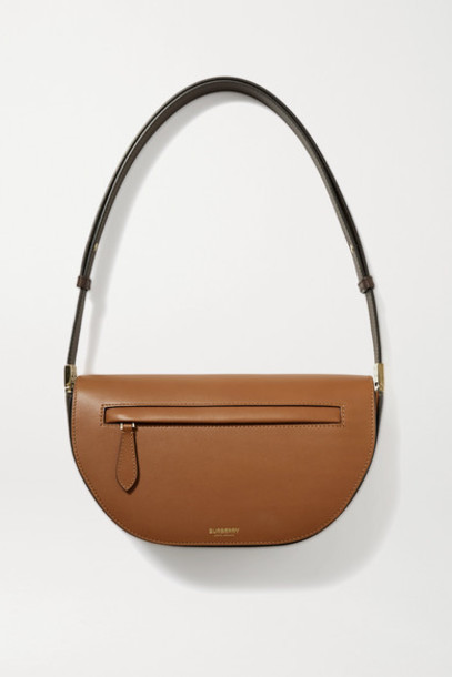 Burberry - Olympia Small Two-tone Leather Shoulder Bag - Tan