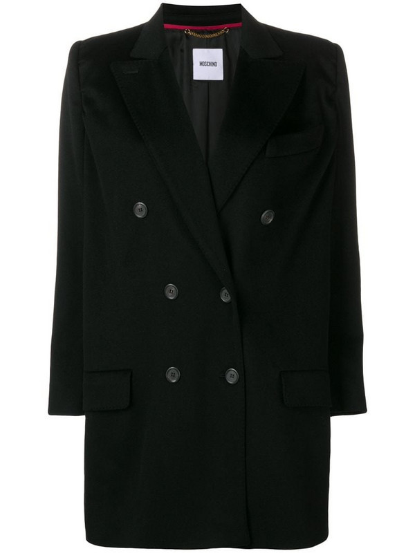 Moschino Pre-Owned 2000's double breasted coat in black