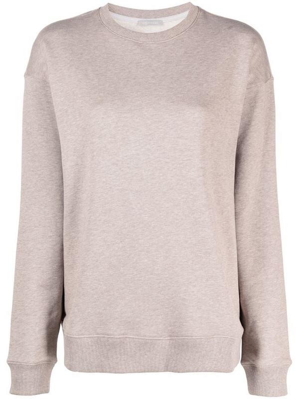12 STOREEZ round neck sweatshirt in neutrals