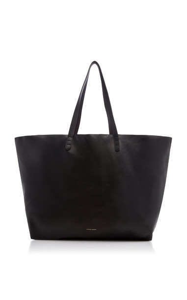 Mansur Gavriel Oversized Lambskin Tote Bag in black