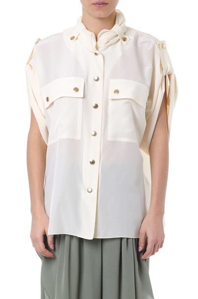 Chloé Chloé Cream Color Silk Shirt