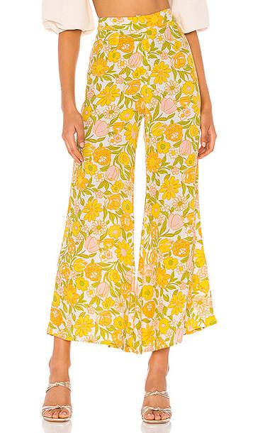FAITHFULL THE BRAND Marise Pants in Yellow