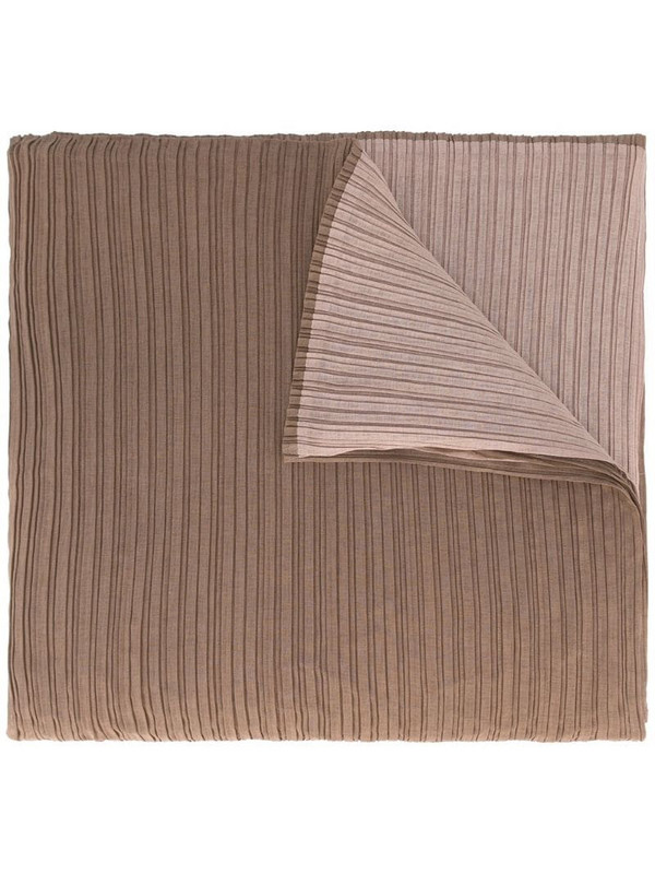 Issey Miyake Pre-Owned two-tone pleated scarf in brown