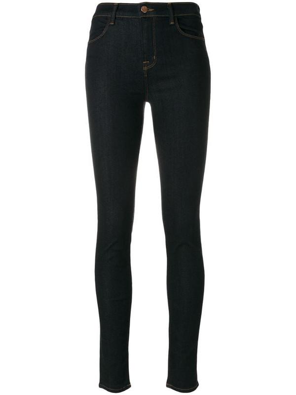 J Brand high rise skinny jeans in black