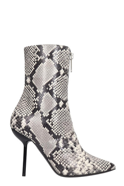 Ben Taverniti Unravel Project Ankle Boots In Animalier Leather