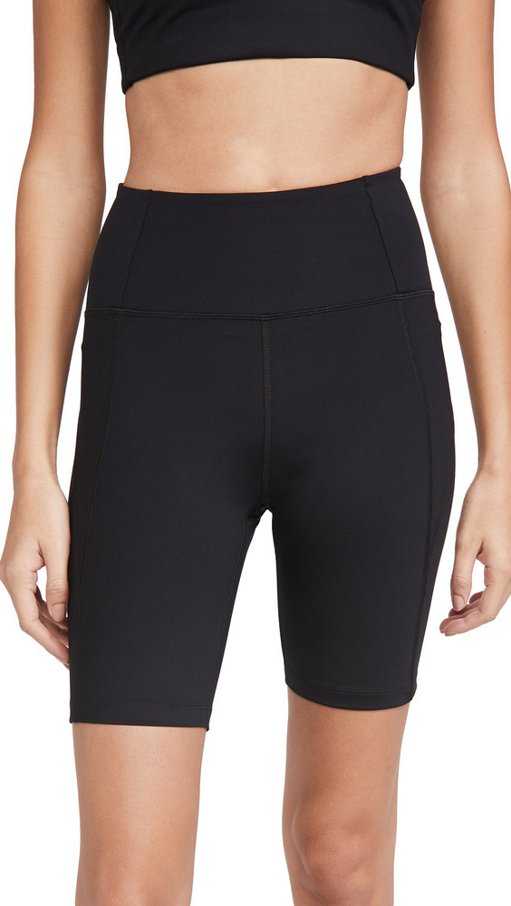 Girlfriend Collective High Rise Bike Shorts in black