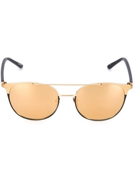 Linda Farrow mirrored sunglasses in metallic