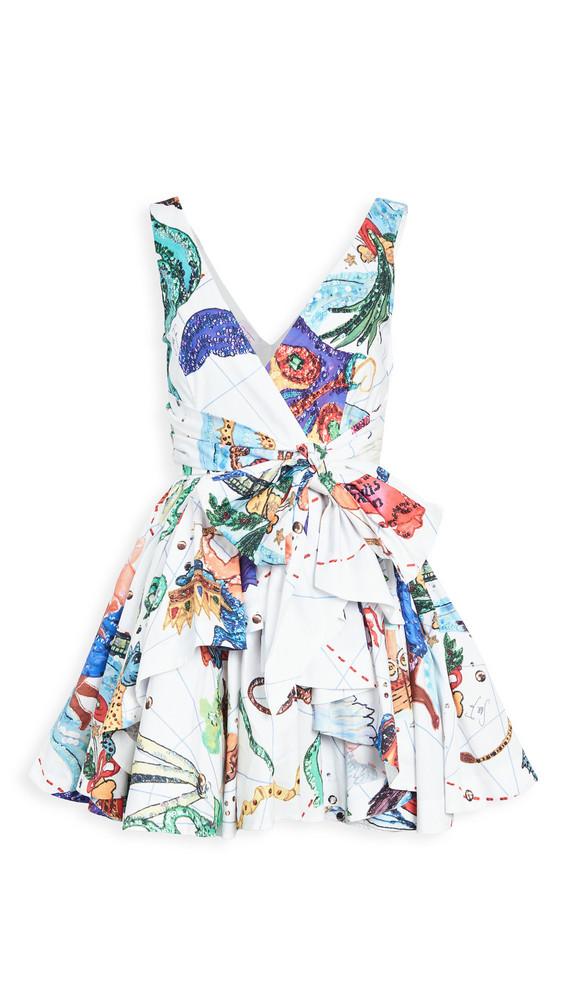 Stella Jean Full Skirted Dress in white