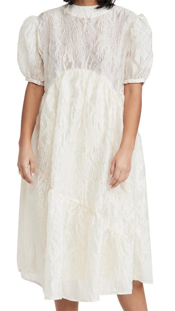 Sister Jane Social Supper Oversized Midi Dress in cream