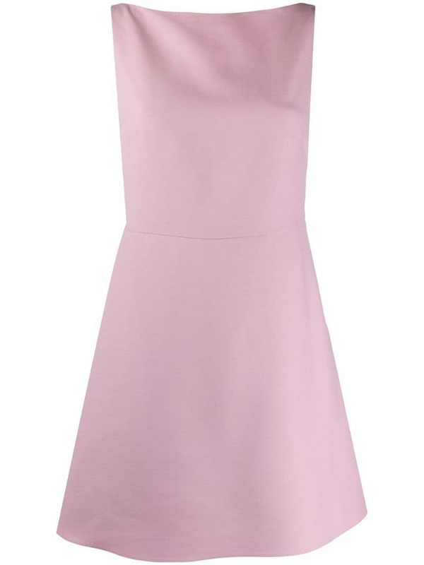 Valentino bow-detail sleeveless dress in pink