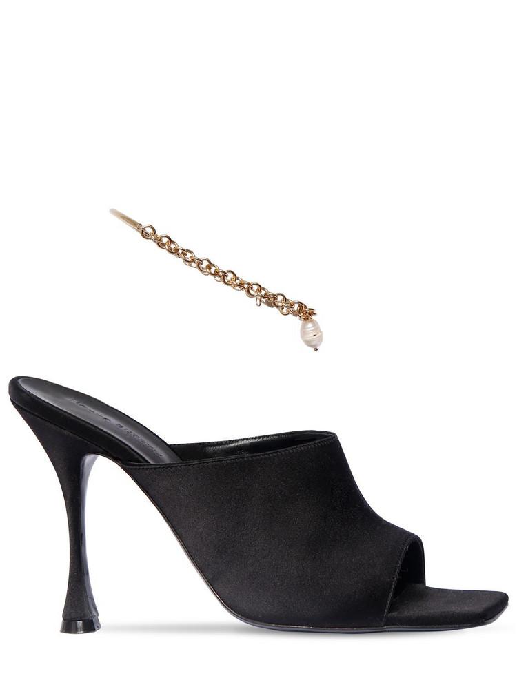 MAGDA BUTRYM 80mm Silk Satin Sandals in black