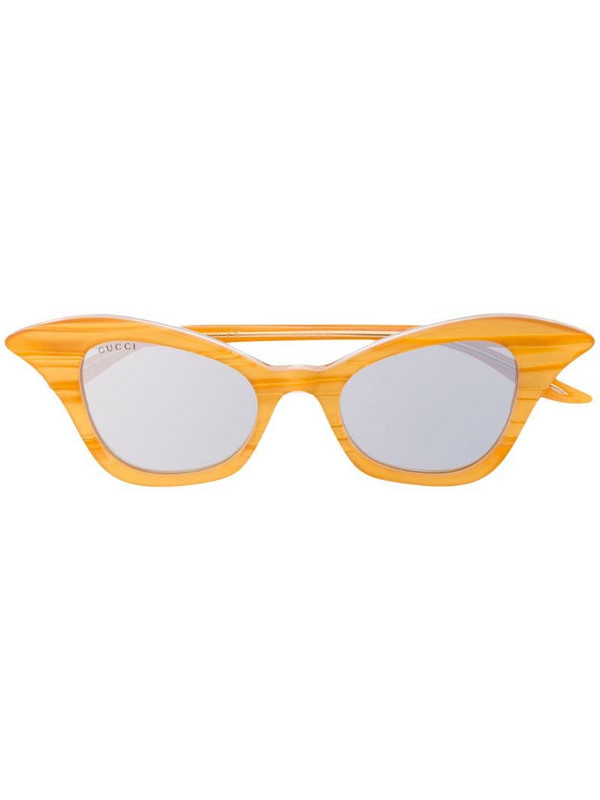 Gucci Eyewear GG0707S cat-eye sunglasses in yellow