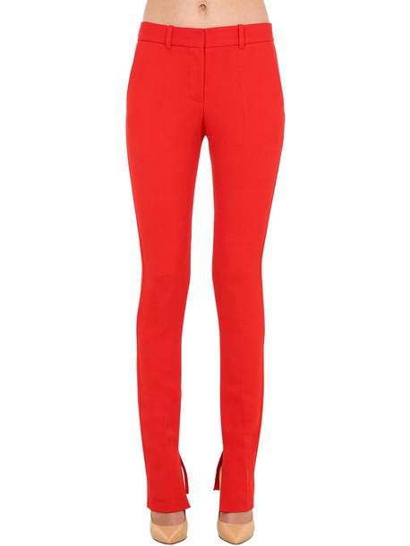 VICTORIA BECKHAM Stretch Viscose Blend Twill Pants in red