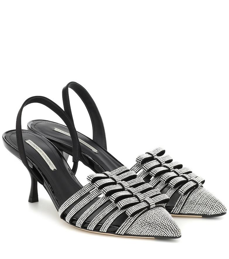 Marco De Vincenzo Embellished slingback sandals in silver