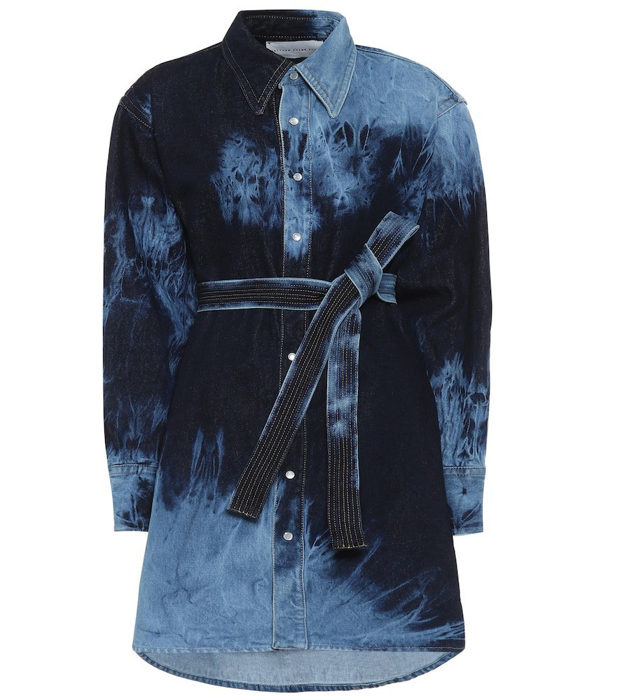 Matthew Adams Dolan Tie-dye denim shirt dress in blue