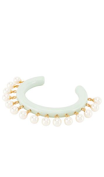 Lele Sadoughi Slim Rattle Bracelet in Green