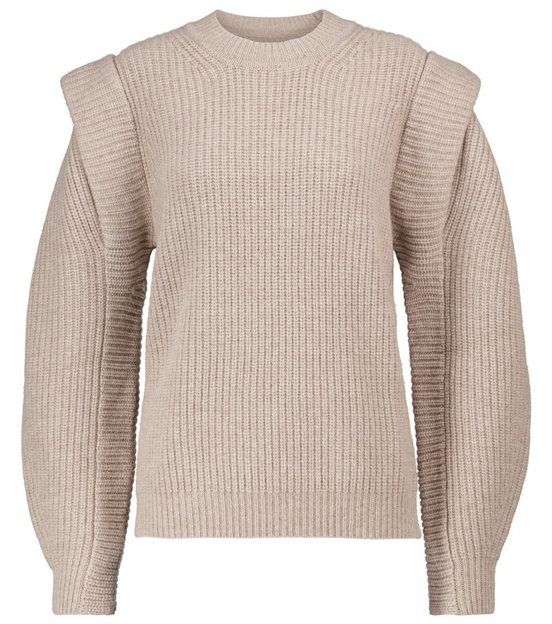 Isabel Marant Bolton merino and cashmere sweater in beige
