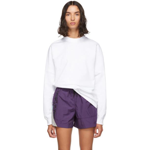 alexanderwang.t White Dry French Terry Sweatshirt