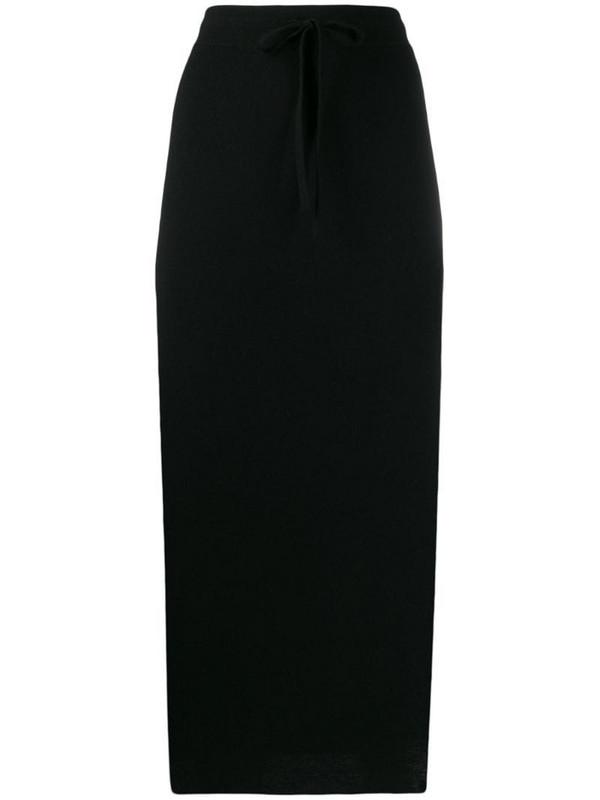Pringle of Scotland drawstring midi skirt in black