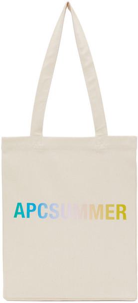 A.P.C. A.P.C. Off-White & Multicolor Lou Tote