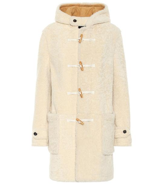 Saint Laurent Shearling duffel coat in beige