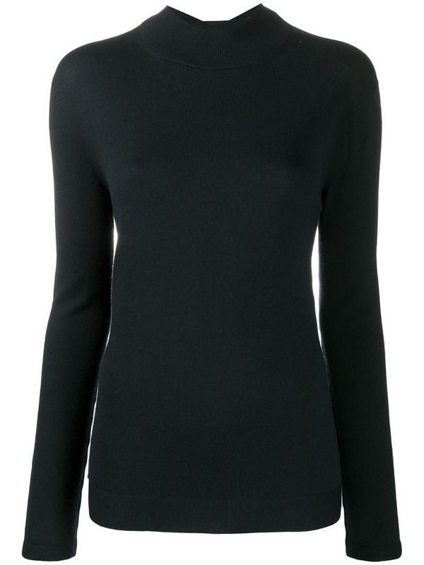 Wolford Aurora fine wool pullover in black