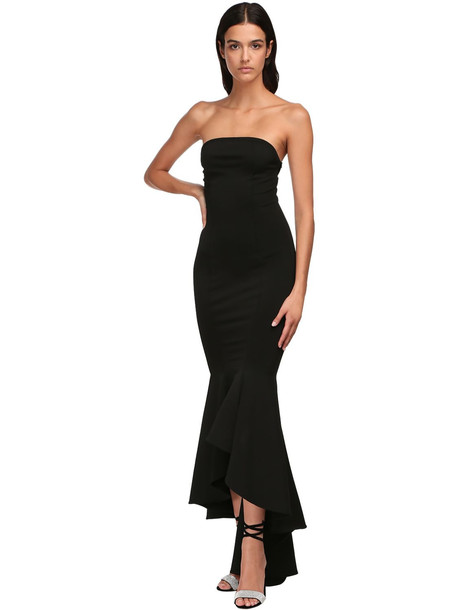 ALEXANDRE VAUTHIER Flared Crepe Knit Dress in black