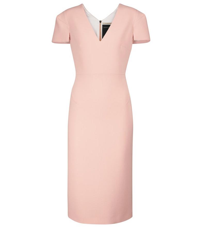Roland Mouret Rubens wool crêpe midi dress in pink