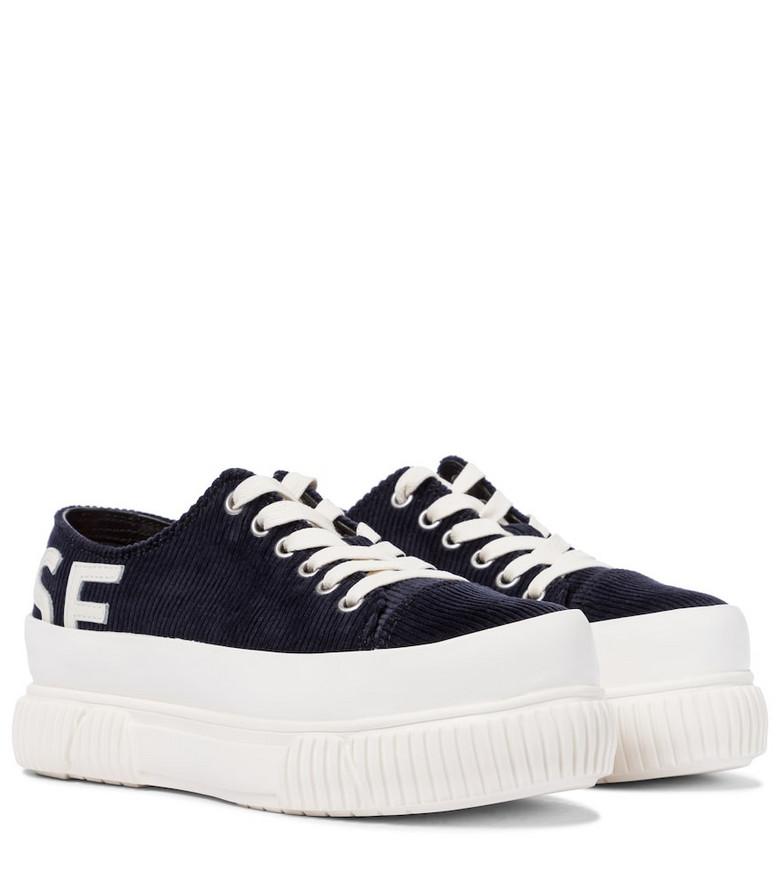 Monse x Both corduroy platform sneakers in blue