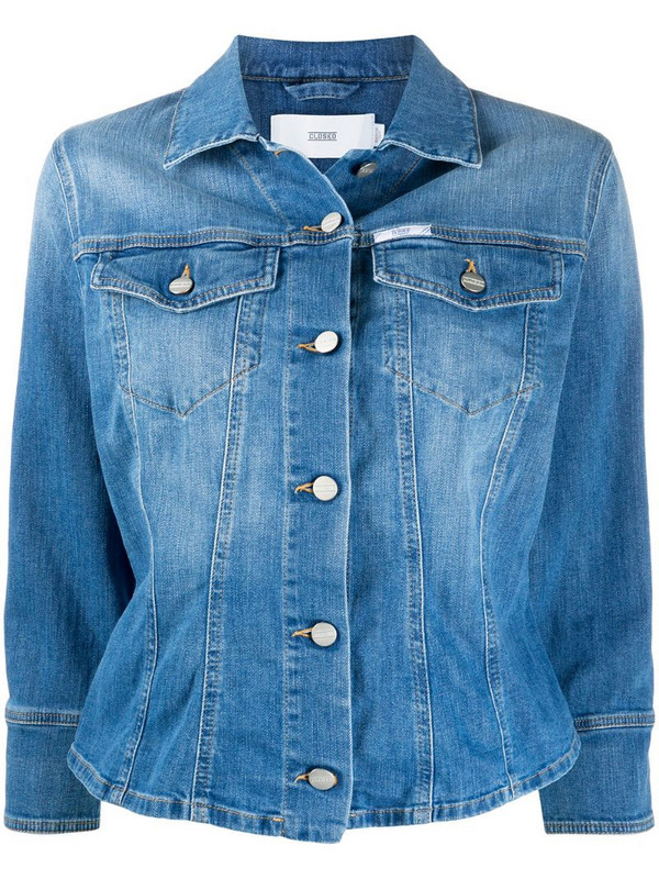 Closed denim long sleeve jacket in blue