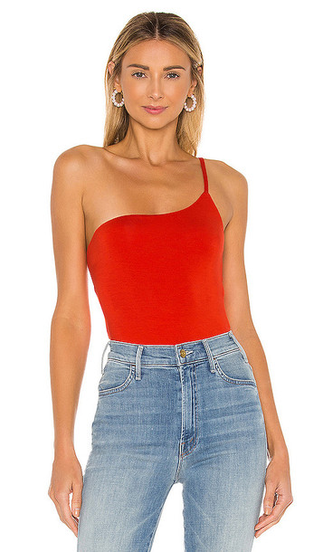 Privacy Please Lexy Bodysuit in Red