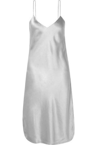 Nili Lotan - Silk-charmeuse Dress - Stone