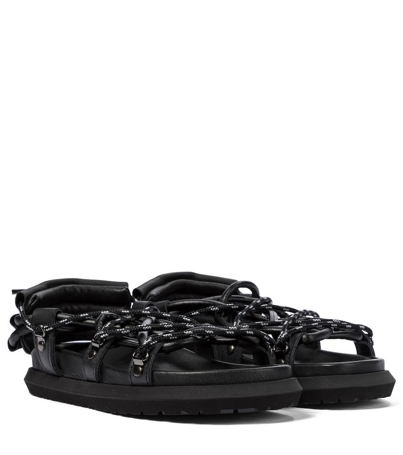 Sacai Leather sandals in black