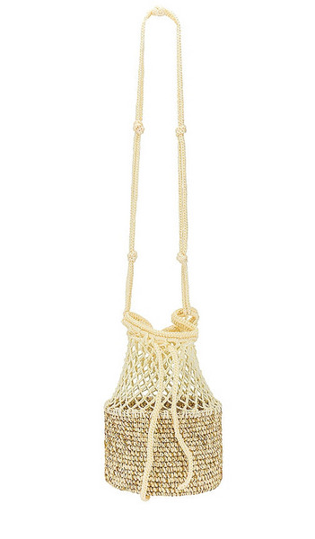SENSI STUDIO Medium Crossbody Bag in Nude in natural / gold