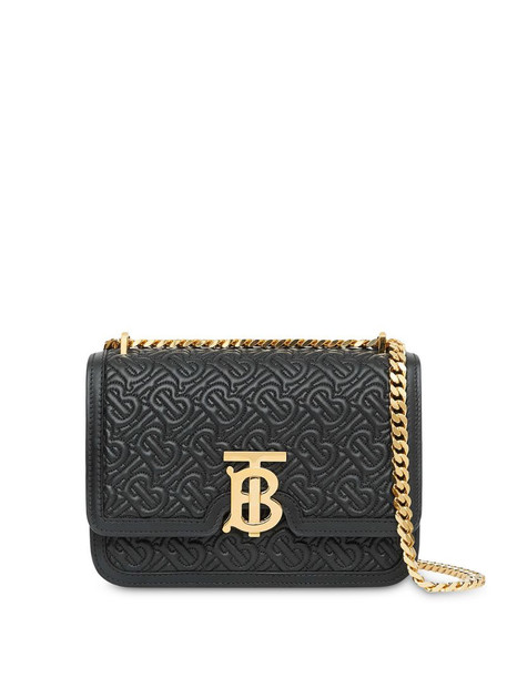 Burberry quilted TB monogram bag in black