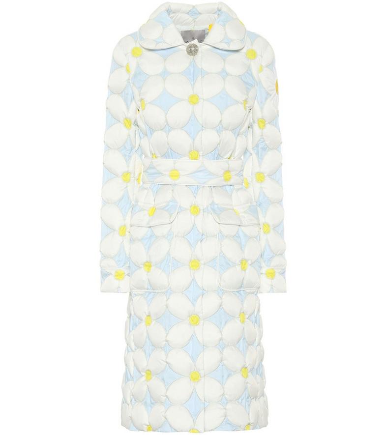 Moncler Genius 8 MONCLER RICHARD QUINN Candice floral down coat in blue