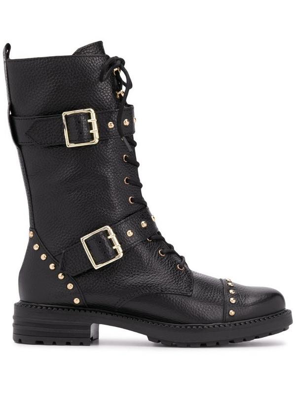 Kurt Geiger London studded biker boots in black