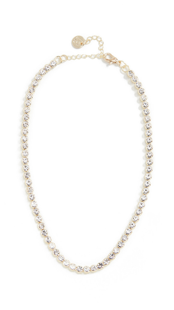 Jules Smith Delicate Rhinestone Crystal Choker in gold