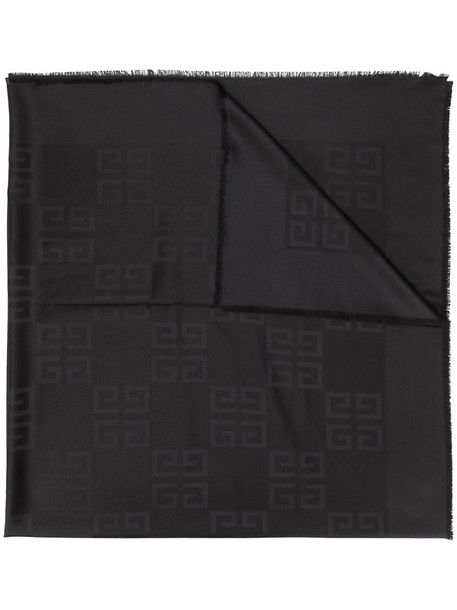 Givenchy G patterned scarf in black